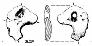 The pendant (published in Australian Archaeology 45:32).