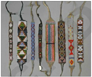 Part of the glass beaded headband and necklace collection from the NT sourced between 1925 and 1930 by Mrs Jessie Litchfield and now held at the British Museum (published in Australian Archaeology 79).