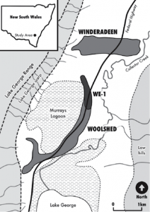 The Lake George study area (published in Australian Archaeology 78).