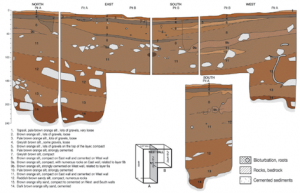 Stratigraphic section for Carpenters Gap 3 (published in Australian Archaeology 78).