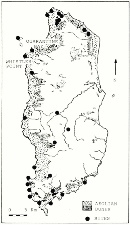 Archaeological sites on King Island in the Bass Strait (published in Australian Archaeology 31:38).